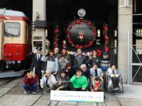 岡山の鉄道館で本物の機関車を見学!